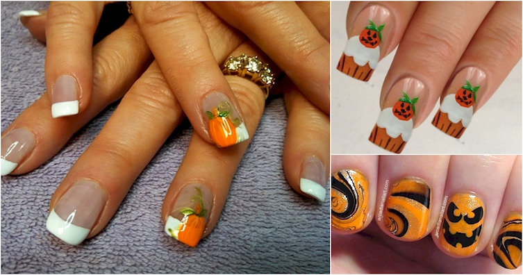 12 Festive Ways To Incorporate Pumpkins Into Nail Art This ...