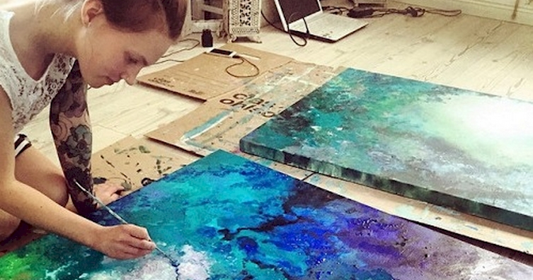 one young artist is using celestial art to move our emotions. Black Bedroom Furniture Sets. Home Design Ideas