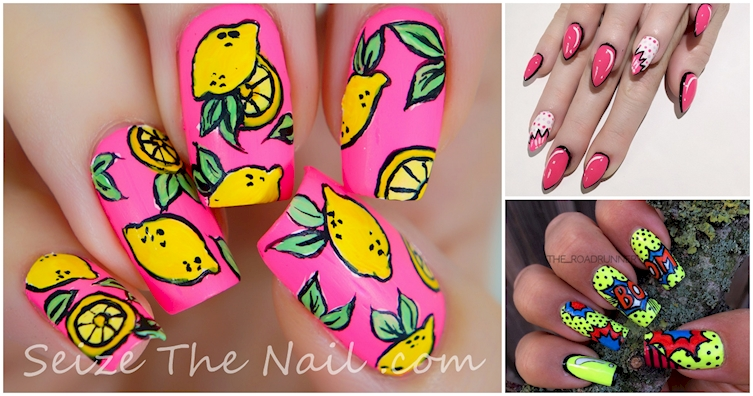12 Cartoon Nails That Totally Pop