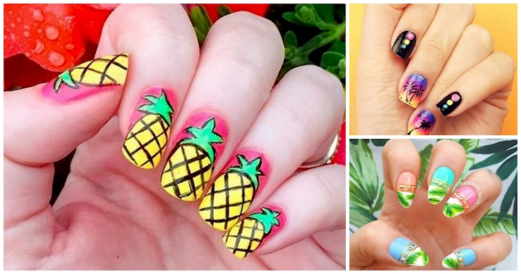 15 Tropically Twisted Manicures That Will Have You Dreaming Of A Winter Getaway