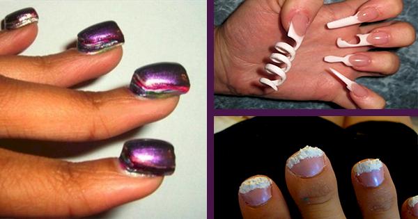 Необычный маникюр своими руками на короткие ногти