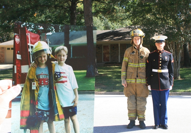 Dream- Boys who became firefighter and marine