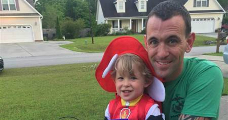 Marine Dad Celebrates Son's Favorite Holidays Before His Deployment